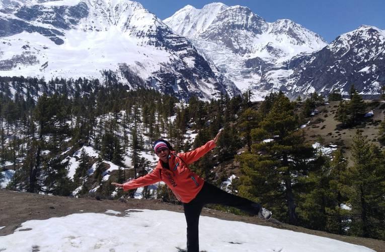 Gabriella Lanza e Andrea Ruberto hanno raggiunto l'Annapurna