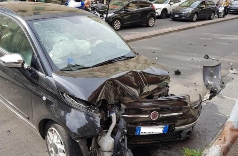 Brutto incidente questa mattina tra via Santa Cecilia e Via Cesare Battisti, a Messina  VIDEO