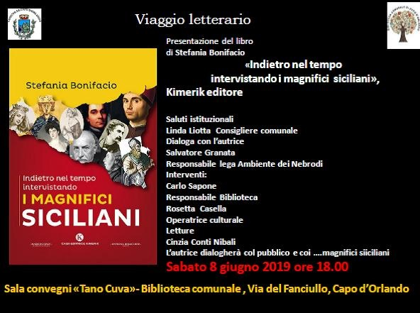 """""""Indietro nel tempo – Intervistando i magnifici siciliani"""", domani in biblioteca"""