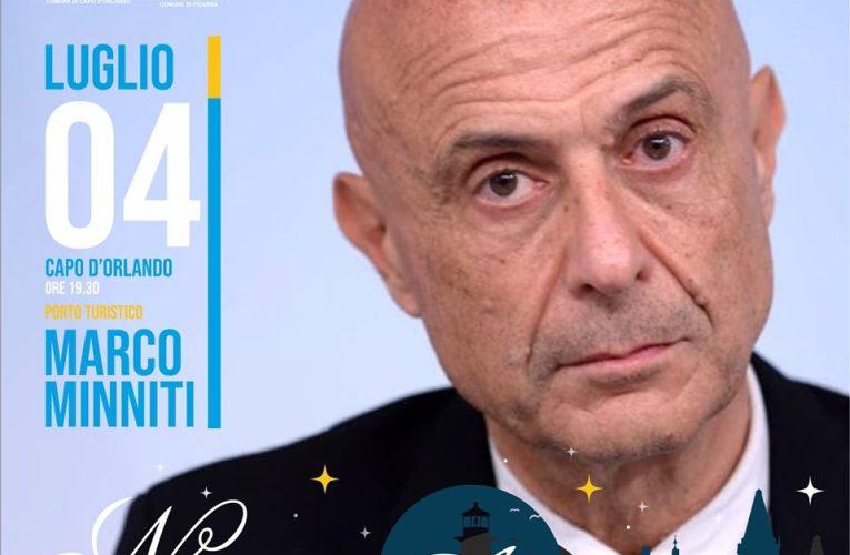 """L'ex Ministro Marco Minniti ospite di """"Notturno d'Autore"""" a Capo d'Orlando"""