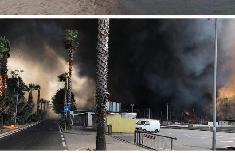 Catania, incendio alla Plaia: Situazione di emergenza. VIDEO