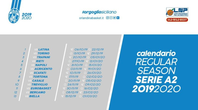 Calendario Playoff Serie A2 Basket.Serie A2 2019 2020 Il Calendario Dell Orlandina Basket