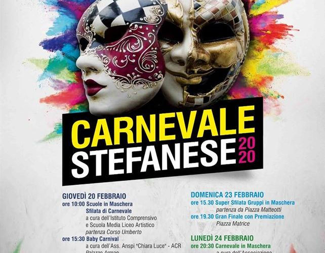 Carnevale 2020 a Santo Stefano di Camastra