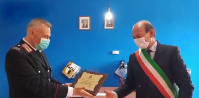 FLORESTA – Il saluto dell'amministrazione al nuovo comandante della caserma