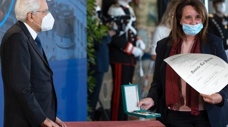 Dirigente scolastica di Palermo insignita dal Presidente Mattarella