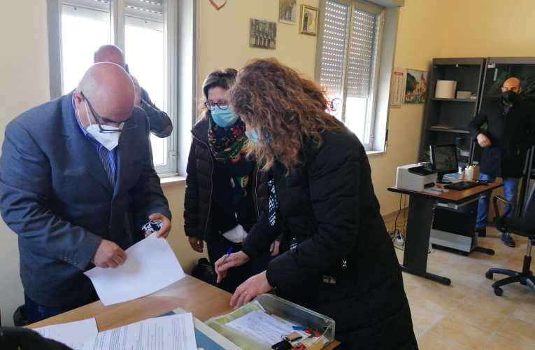 Piraino (Me) – firmato con la ditta il verbale di consegna dei lavori