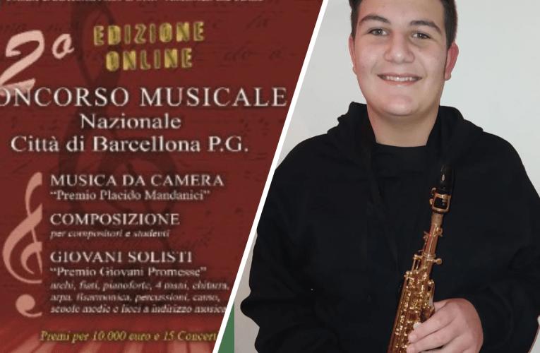 """L'allievo """"Toscanini"""" Carmelo Faranda vince il Concorso Nazionale di musica """"Mandanici"""" di Barcellona P. G.  VIDEO"""