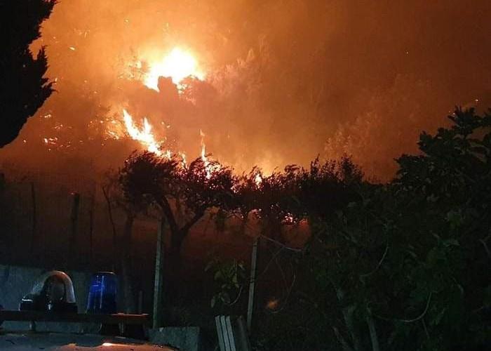 Incendi in Sicilia, brucia per tutta la notte la Piana degli Albanesi