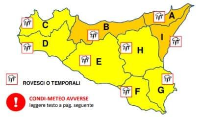 Meteo Sicilia, il maltempo travolge l'isola: allerta gialla e arancione