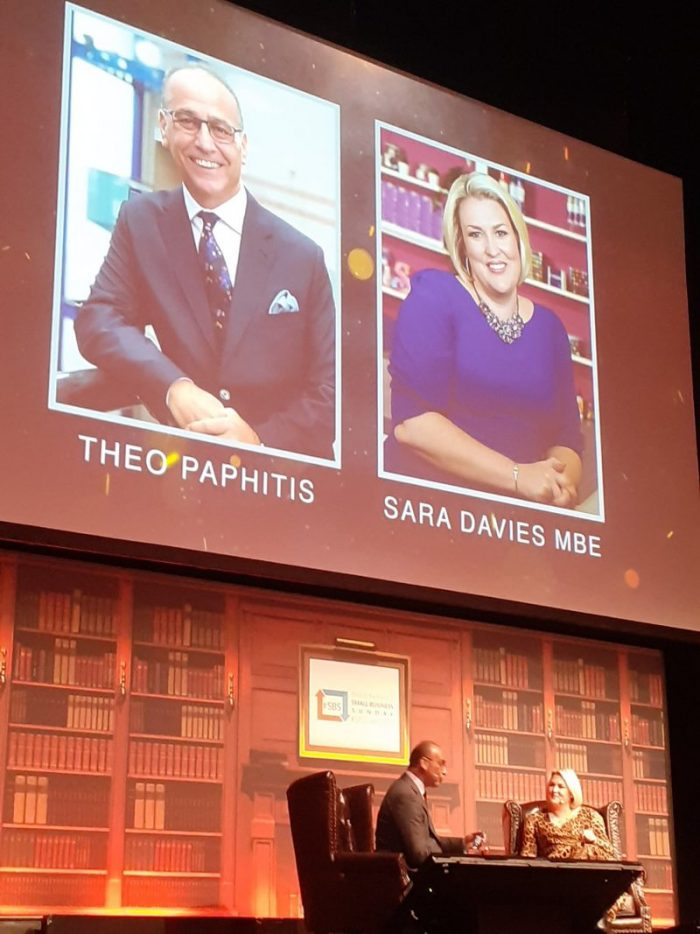 #sbsevent2020, small business sunday, theo paphitis, sara davies mbe