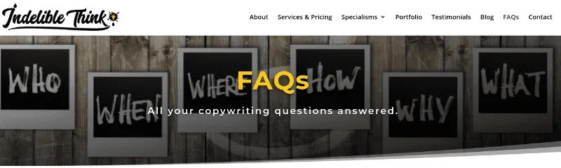 copywriting faqs, what does a copywriter do, website relaunch