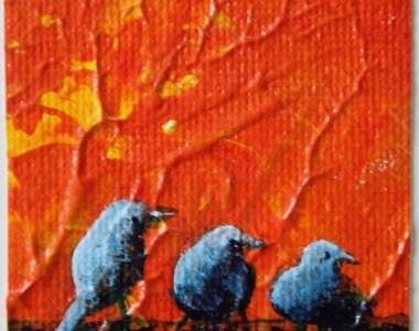 Miniaturen vogels