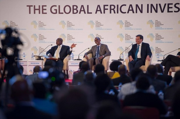 President Museveni and Kagame at the TGAIS summit
