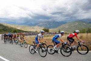 The peloton in action on the Tour de France Stage 3 from Nice to Sisteron. Photo: Reuters / Stephane Mahe