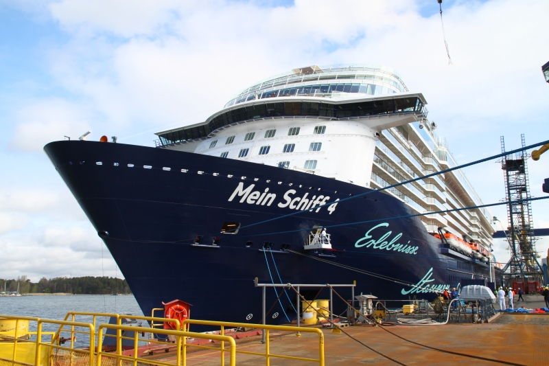 Tui Cruises' MS Mein Schiff 1 cruise ship makes debut arrival at Colombo Port