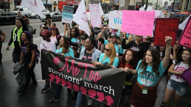 Hollywood holds #MeToo march against sexual harassment