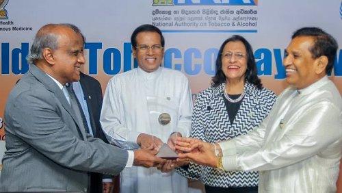 Sri Lanka receives World No Tobacco Day Award for third time