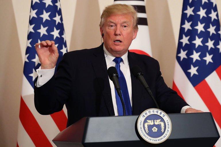Trump warns North Korea: 'Do not try us'
