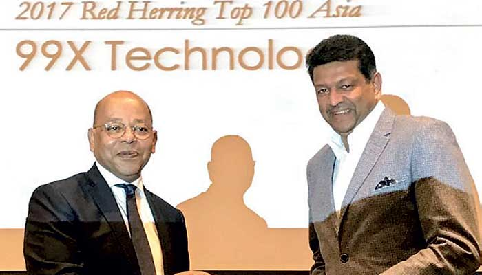 Red Herring names 99X Technology as one of Asia's most promising tech companies