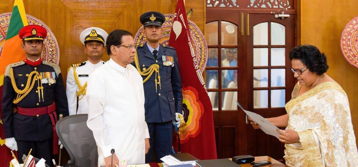 MP Sriyani Wijayawickrama sworn in as state minister of local government and provincial councils