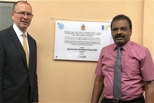 Canada extends support to Agriculture Cooperatives in Kilinochchi through UNDP and FAO