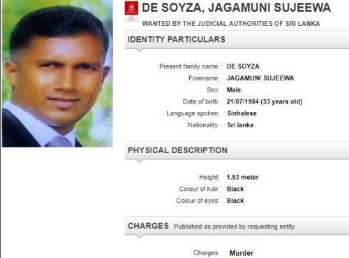 Interpol notices issued on two Sri Lankan underworld leaders