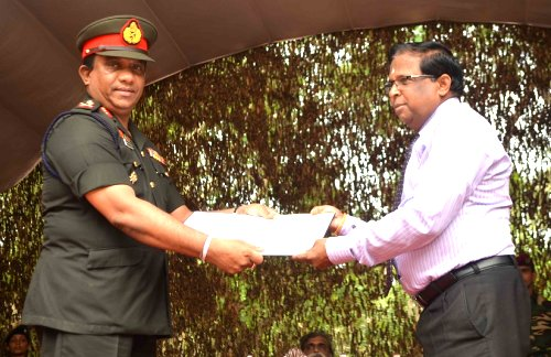 Sri Lanka military releases 29 acres of land to the public in the North