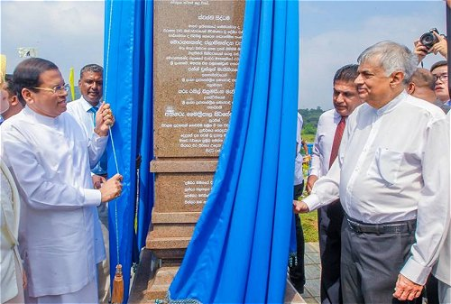 President, PM declare open Sri Lanka's largest multi-functional irrigation project