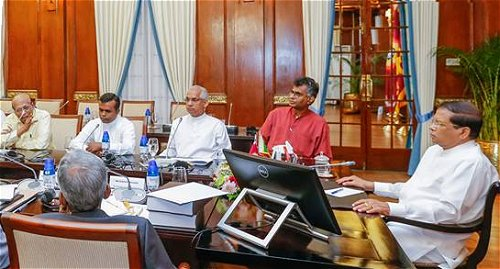 President, party leaders discuss future action to implement recommendations of Bond commission report