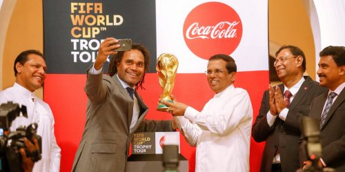 2018 FIFA World Cup Trophy handed over to Sri Lankan President
