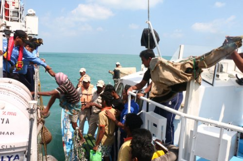 Sri Lanka Navy assists repatriation of 109 Indian and 6 Sri Lankan fishermen released from detention