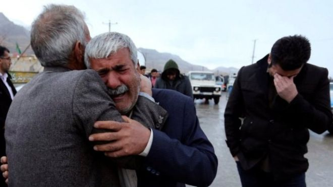 Iran plane crash: Agonising wait continues for relatives