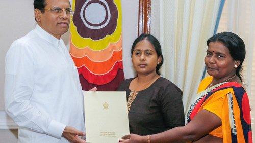 Sri Lankan President intervenes to provide employment to late Vidya Sivaloganathan's sister