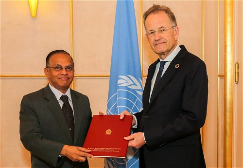 Sri Lanka's new Permanent Representative to the UN in Geneva assumes duties