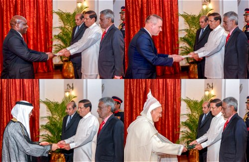 Five new envoys to Sri Lanka present credentials to President