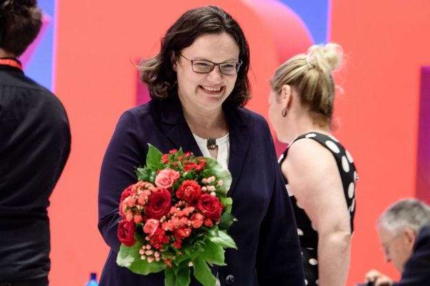 Andrea Nahles: First woman to lead Germany's social democrats