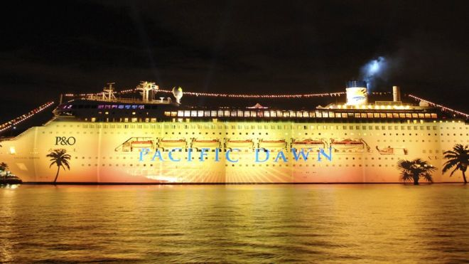 Pacific Dawn: Woman missing after fall from cruise ship
