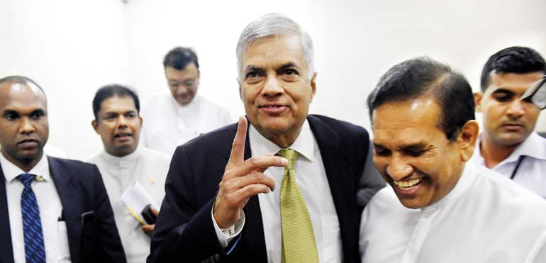 Royal victory for Ranil
