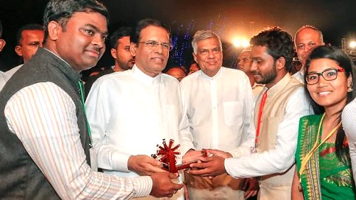 Sri Lankan President emphasizes building a better society & country for young generation