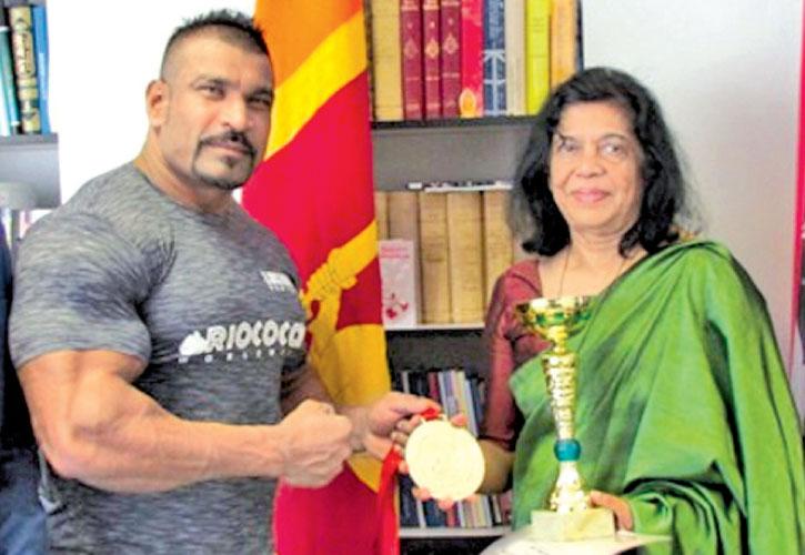 Sri Lankan bodybuilder wins silver medal at Austrian international championship