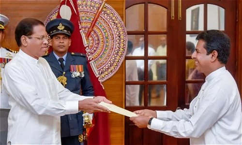 MP Buddhika Pathirana sworn in as Deputy Minister of Industries and Commerce