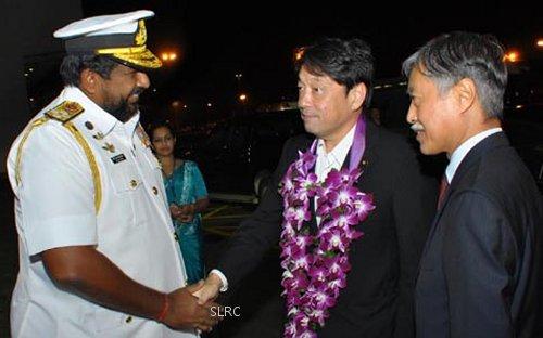 Japan's defense minister arrives in Sri Lanka