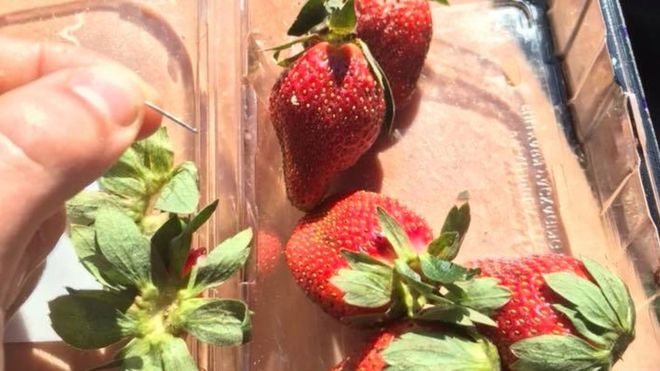 Strawberry needle scare: Australia probe as 'vicious crime' widens