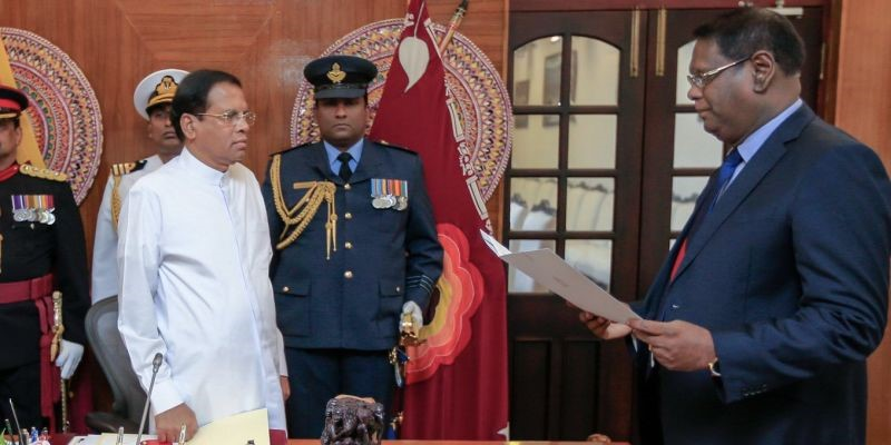 Nalin Perera takes oath as 46th Chief Justice