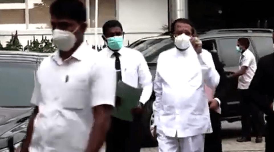 Frormer President Maithripala arrives at PCoI