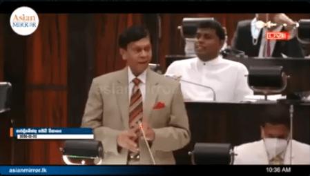 WATCH: Ajith Nivard Cabraal's speech during the Parliament budget debate yesterday (02)