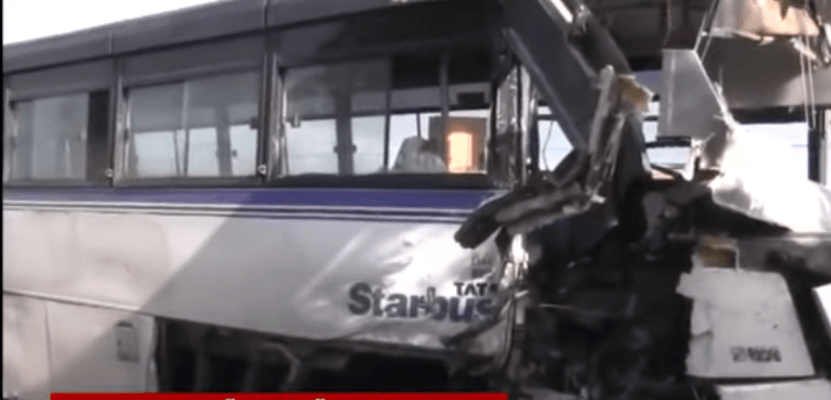 Watch: Bus carrying CV-19 patients collide with a another bus