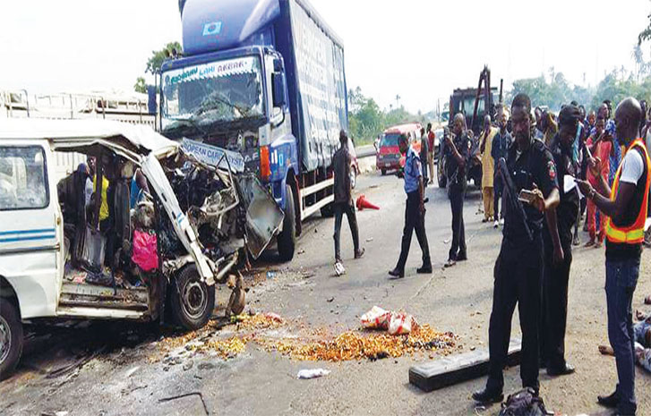 Image result for Five die, Nine injured in Lagos – Ibadan Expressway accident