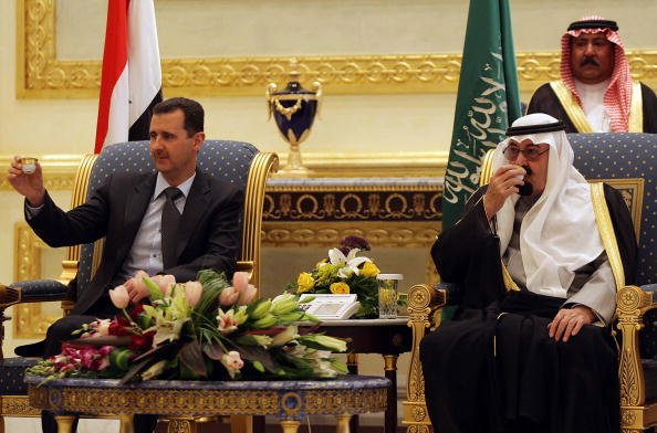King Abdallah and Assad