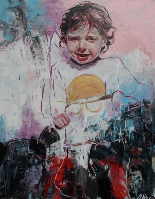 Angela Vinci, Matteo-2014-100x80cm-mixed media
